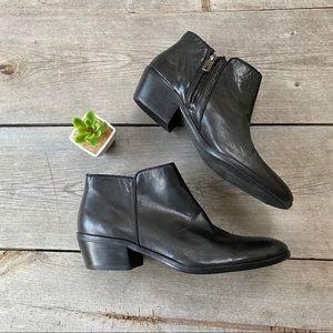 Sam Edelman Black Petty Leather Ankle Boots
